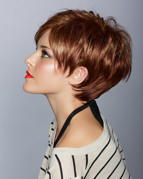 Короткая стрижка для густых волос